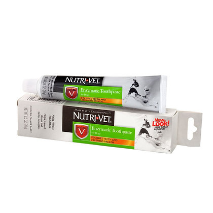 Nutri-Vet Enzymatic Toothpaste for Dogs   Non-Foaming & Quality Design   2.5 Oun