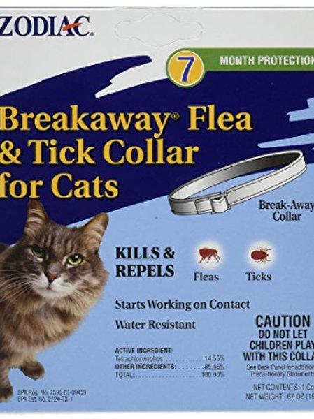 "Zodiac Breakaway Flea and Tick Collar for Cats, 13"""