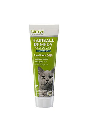Tomlyn Laxatone Tuna-Flavored Hairball Remedy Gel for Cats and Kittens, 4.25oz