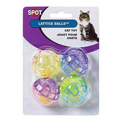 Lattice Plastic Balls with Bells - 4 pk