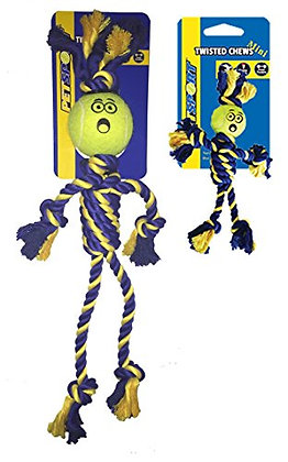 PetSport Twisted Chews Extremely Durable Rope Tug Dog Toys Great for Heavy Chewe