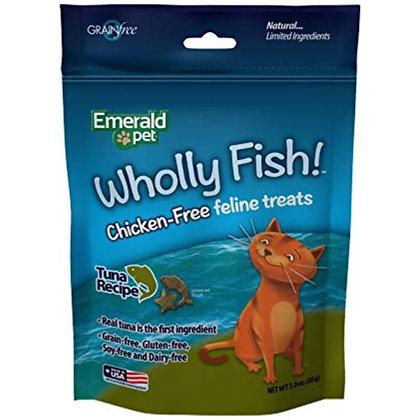 Emerald Pet Feline Wholly Fish! Crunchy Natural Grain Free, Chicken Free Cat Tre