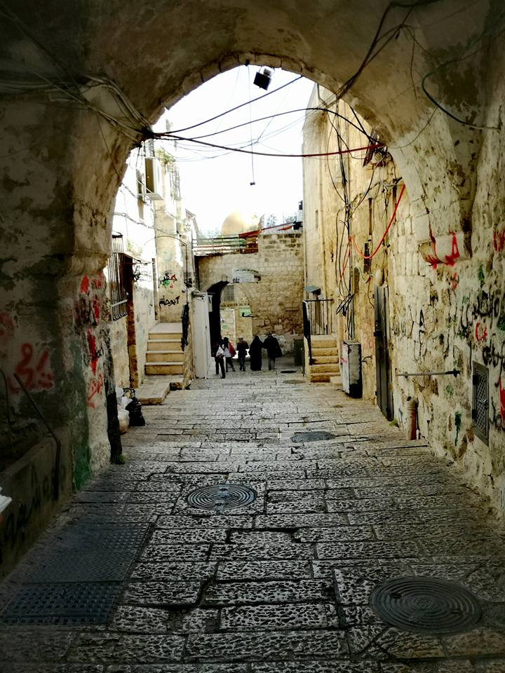 Jerusalem cobbled street