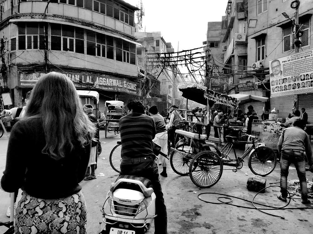 Chandni Chowk street scence, Old Delhi, India