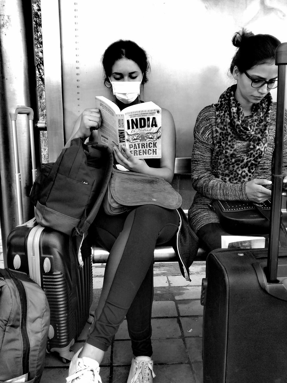 Rebecca Mqamelo reading in New Delhi, India