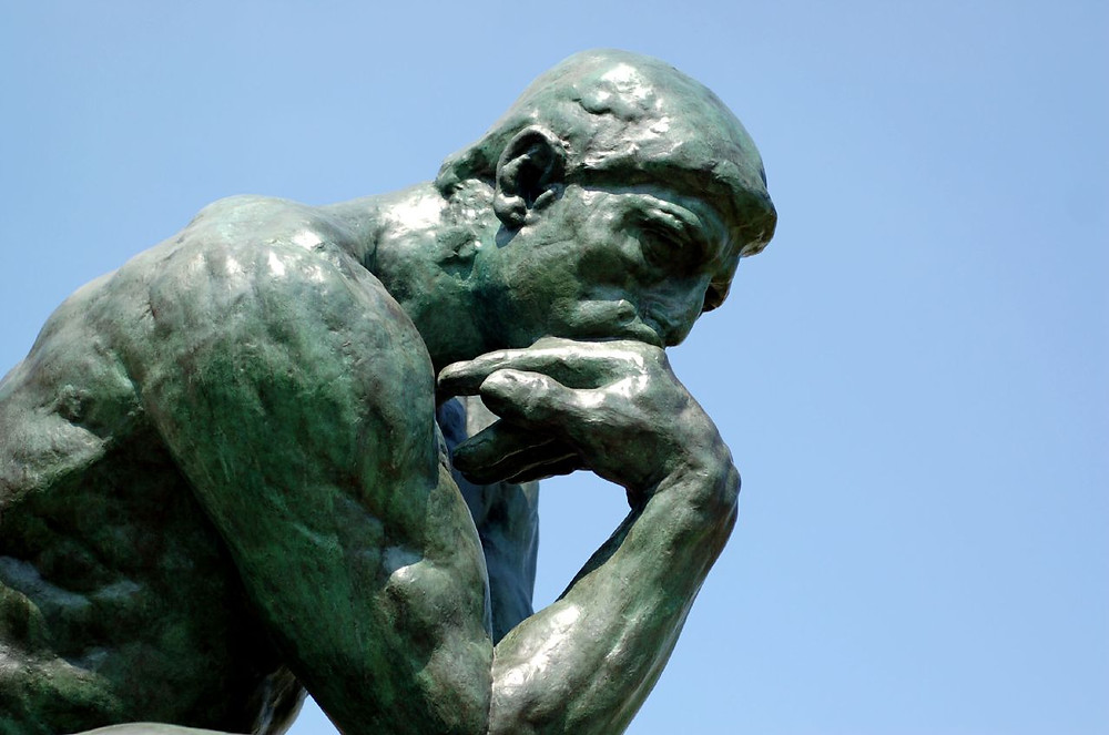 The Thinker Rodin sculpture