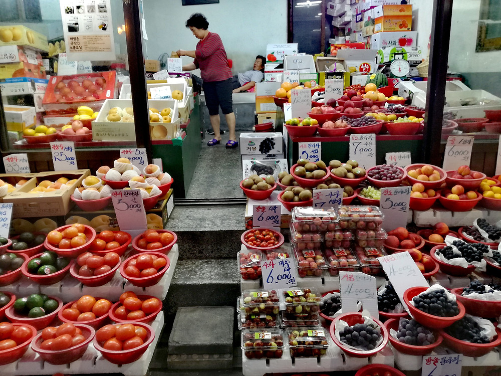 Fruit-seller in Haebangchon