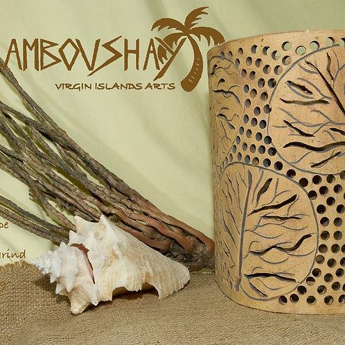 "12""  Sconce Sea Grape Leaf Design - Tamarind"