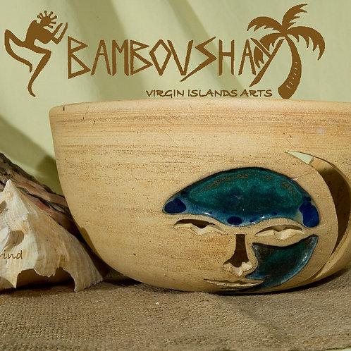 Oblong Sconce Sunface Design - Tamarind / Seagrape