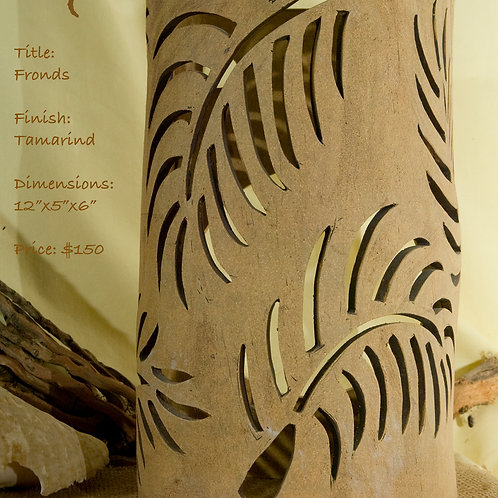 "12"" Sconce Palm Fronds Design - Tamarind"