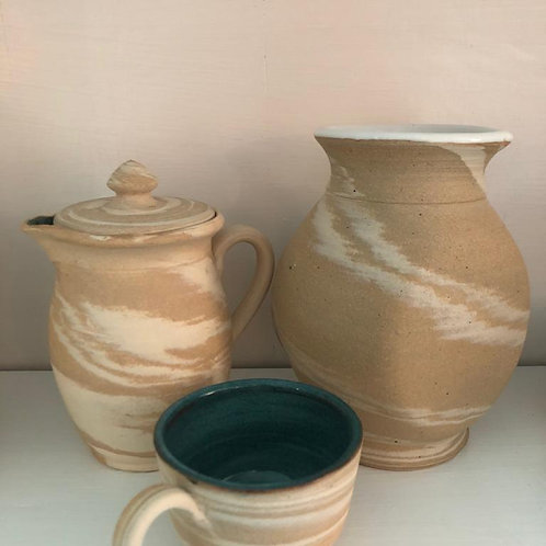 Creamer, Cup & Vase - Mixed Clay