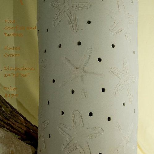 """12"""" Sconce Starfish Design - Matte White"""