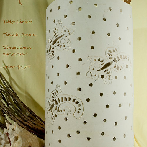 """12"""" Sconce Lizard Design - Matte White"""
