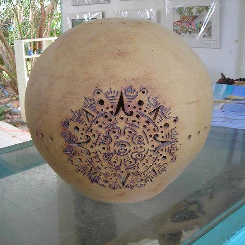 Globe Pendant Light - Aztec Design