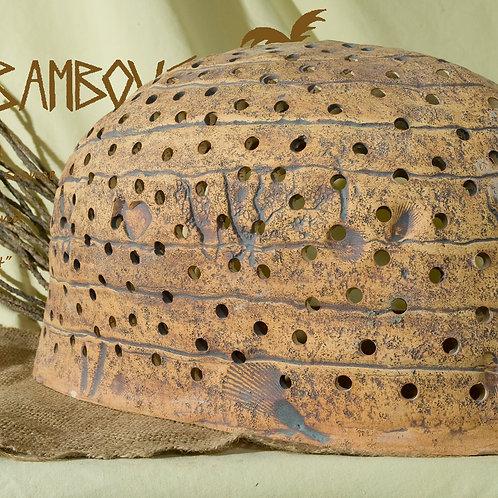 Oblong Sconce Coral & Bubble Design - Tamarind