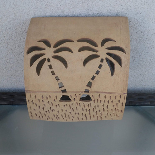 Box Sconce - Single Palm Trees Design