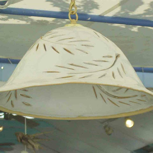Bell Pendant - Palm Fronds Design