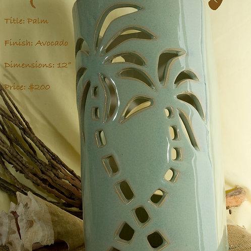 """12"""" Sconce Palm Tree Design - Avocado"""