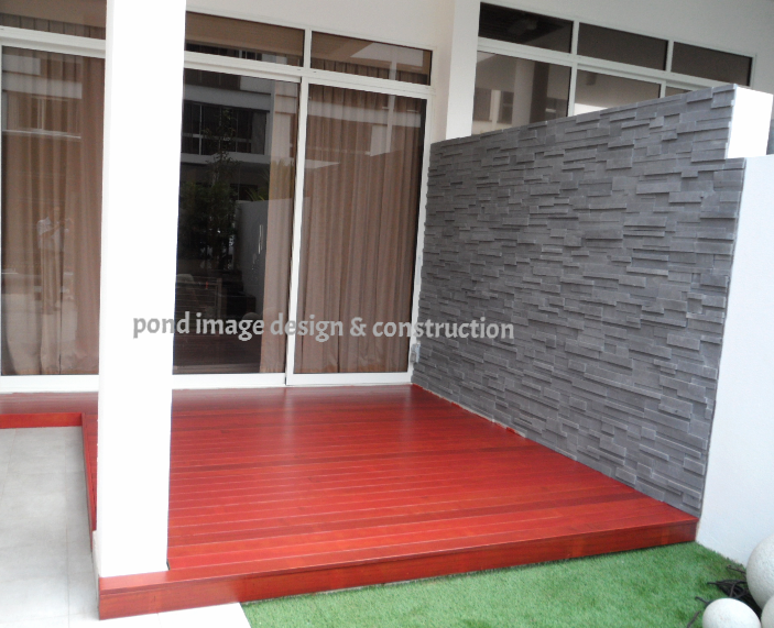 Chengai decking and feature wall