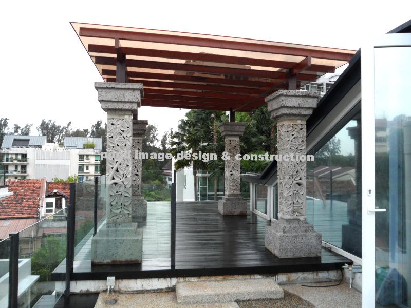 Chengai wood trellis