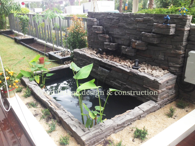 Pond with planter