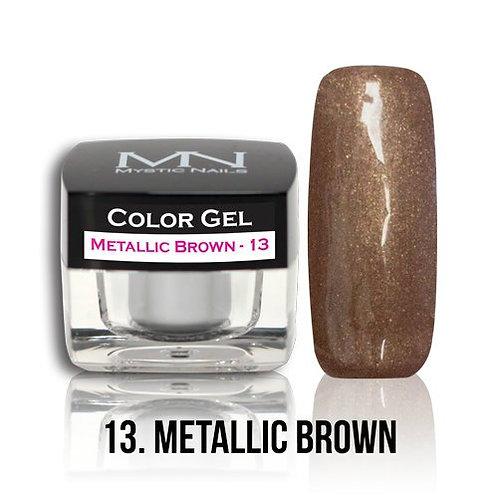 MN Color Gel Metallic Brown 13