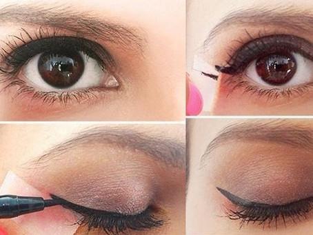 Düzgün eyeliner çekmek için pratik yöntem!!!