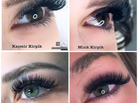 Kaşmir Kirpik, Mink Kirpik, İpek Kirpik arasındaki temel farklar