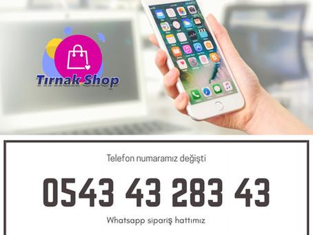 Tırnak Shop'un telefon numaraları değişti