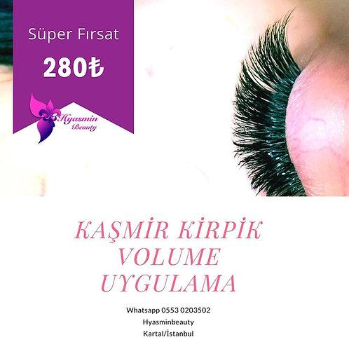 Kaşmir Kirpik Volume Uygulama