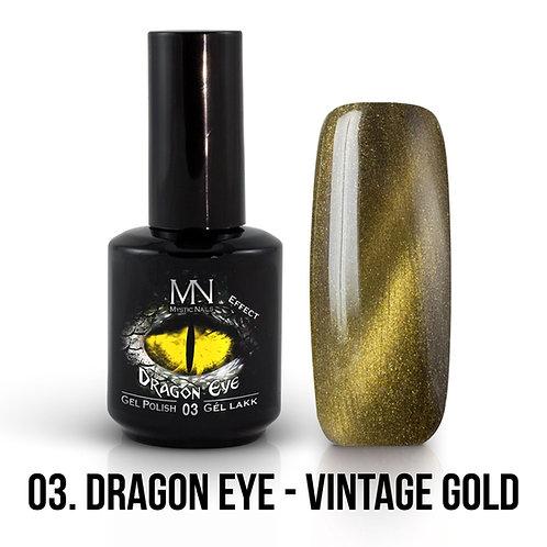 Kalıcı Oje Ejderha Gözü Efekti Vintage Gold