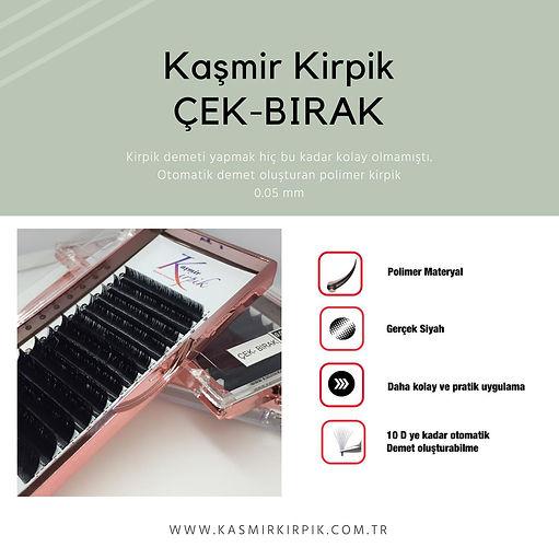 Kaşmir Kirpik Çek- Bırak