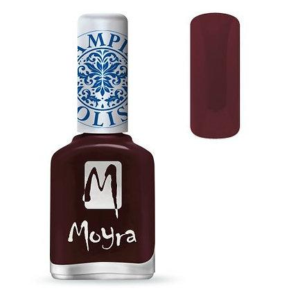 Moyra Baskı Ojesi Burgundy Kırmızısı 03