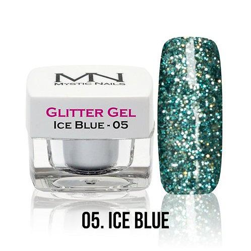 MN Glitter Gel ice  Blue 4 g