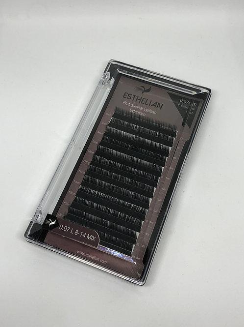 Esthelian İpek Kirpik L kıvrım 0.07 mm mix boy