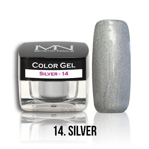 MN Color Gel Metallic Silver 14