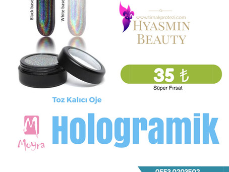 Hologramik Toz Kalıcı Oje şimdi Türkiyede