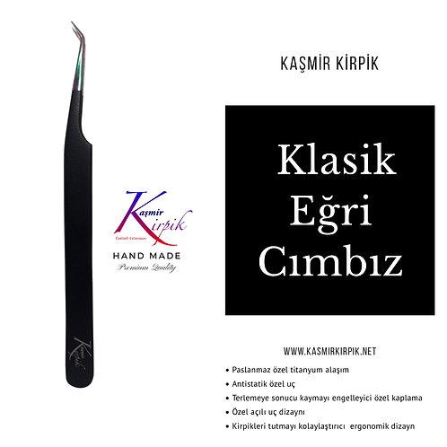 Kaşmir Kirpik® Eğri uçlu cımbız