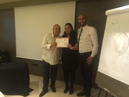 Saç Similasyonu'nun yaratıcısı Moshe Alul'dan Master Class Sertifikamızı aldık