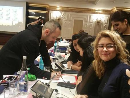 Kalıcı Makyaj ve Saç Simülasyon'unda  Dünya Starları İstanbul'dan geçti.