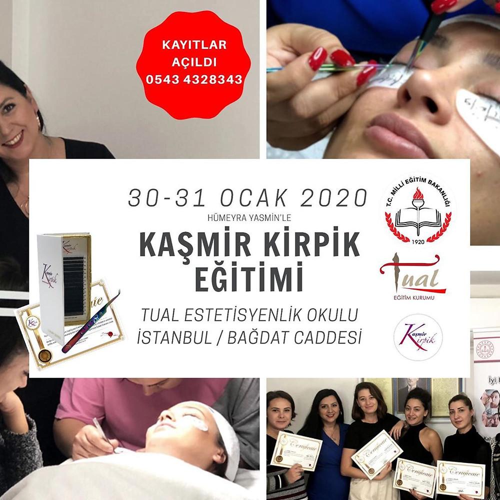 Kaşmir Kirpik eğitimi İstanbul