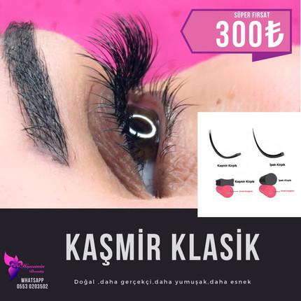 Kaşmir Kirpik Klasik Uygulaması
