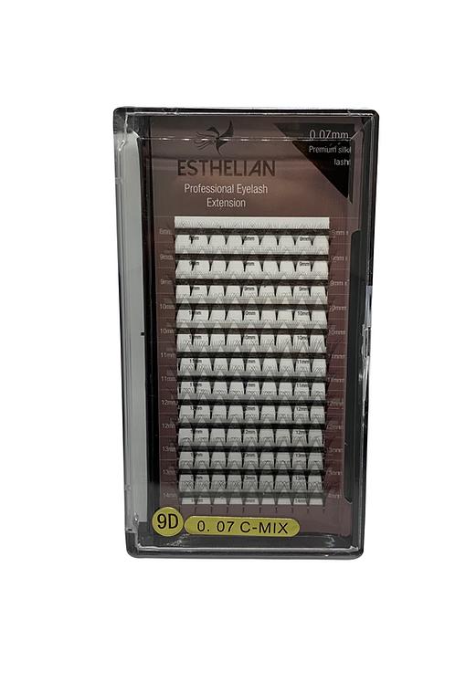 Esthelian ® 9D Hazır demet İpek kirpik mix boy