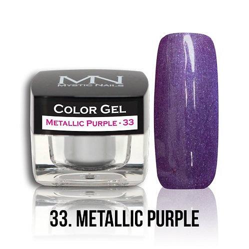 MN Color Gel Metallic Purple 33