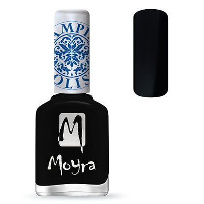 Moyra Baskı Ojesi Siyah 05