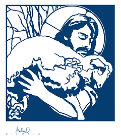 Healing Shepherd Logo by Fr. Michael Nicosia