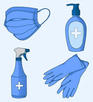 equipo-prevencion-coronavirus-dibujado-m