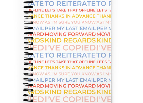 Corporate Phrases Spiral Notebook