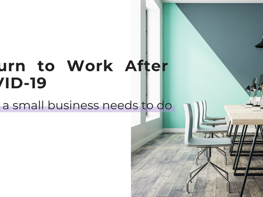 Return to Work After COVID-19: What a Small Business Needs to Do