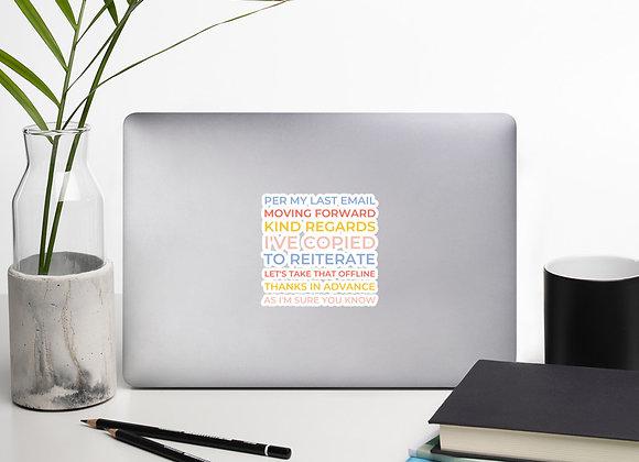 Corporate Phrases Sticker